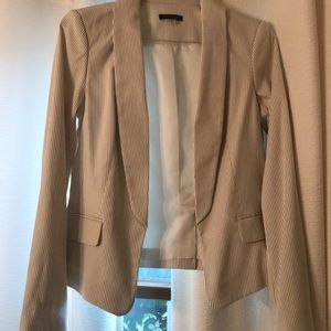 Tommy Hilfiger white and taupe striped blazer